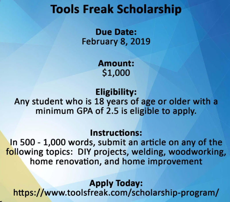 February Scholarship Applications