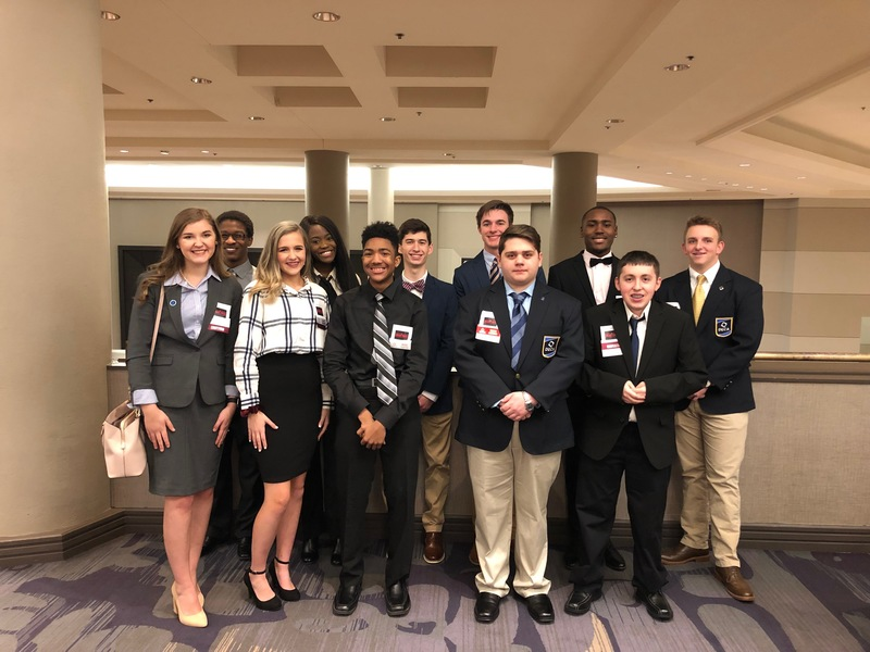 10 AHS DECA Students Earn Awards; 4 Qualify for International Competition in Orlando