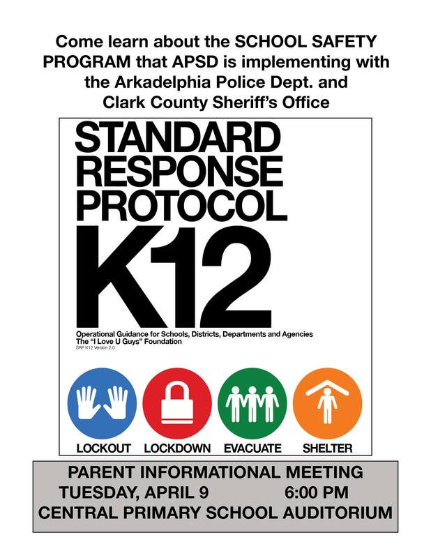 APSD to Host Parent Information Session for Standard Response Protocol School Safety Program